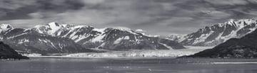 Hubbard Glacier and surrounding mountains Alaska