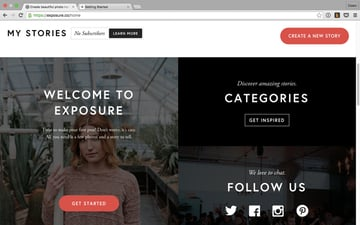 Exposures home page