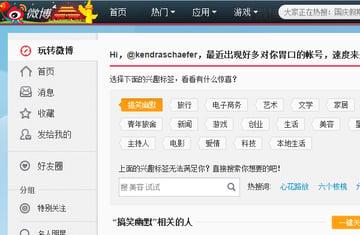 My Sina Weibo Chinas Twitter user panel
