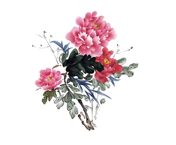 How to Draw Chinese Art Flowers Leaves Branches