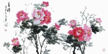 Peonies by Shen Zhihua