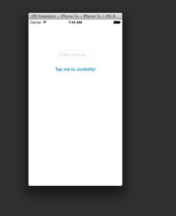 Sample Application screenshot