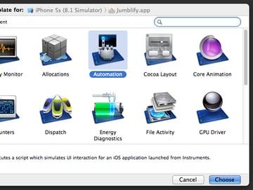 Instrument chooser screenshot