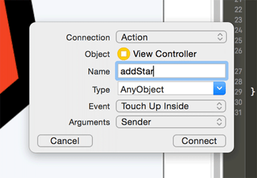 Adding an IBAction
