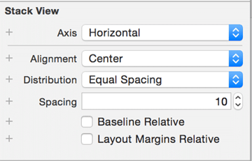 Adjusting the attributes of the new stack view
