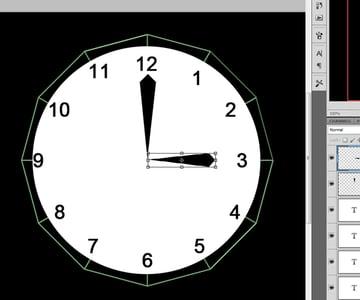 Shorten the length of the hour hand