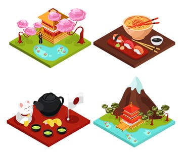Japan Isometric Concept