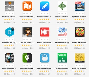 iOS apps and app templates on Envato Market