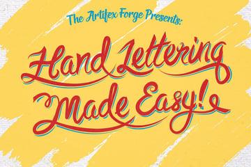 Set of 74 Hand Lettering Brushes