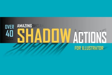 40 Shadow Actions for Illustrator