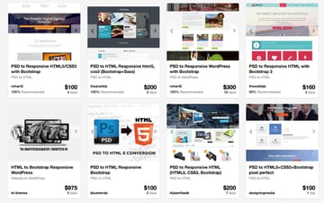 Bootstrap experts on Envato Studio