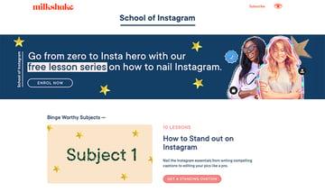 School of Instagram website