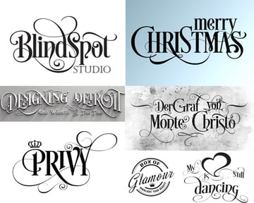 Custom Calligraphy With Graphic Elements