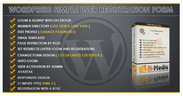 WordPress Registration Form plugin on Envato Market