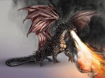 Digitally Drawn Dragon