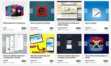 Mobile and app developers on Envato Studio
