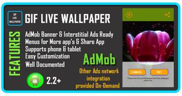 GIF Live Wallpaper item on Envato Market