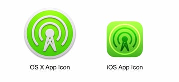 App icons designed in Sketch