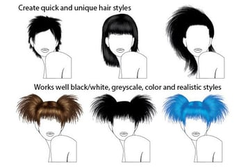 Easy Hair Brushes for Adobe Illustrator