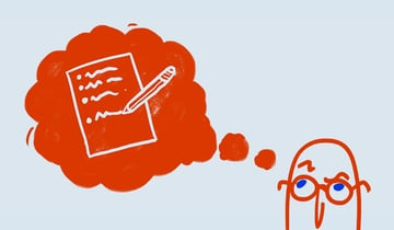 Illustration of brainstorming