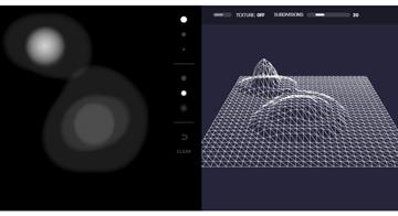 Screenshot of the heightmap demo