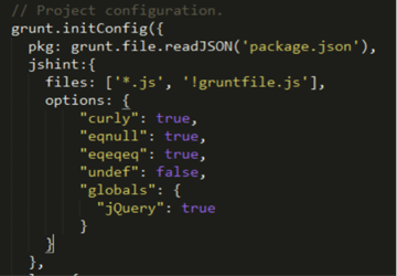 Code for the initConfig function modified