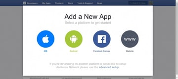 Add a New App on Facebook