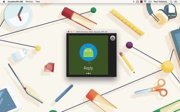 Another screenshot from Android Wear app development course