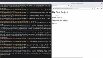 Screenshot of project in Heroku course