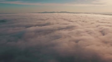 Drone shot of clouds