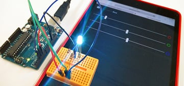 Internet of Things LED lit up
