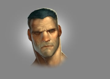 Face project from Photoshop digital painting course