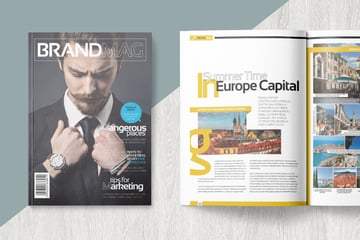 Magazine template on Envato Elements