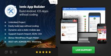 Ionic App Builder on Envato Market