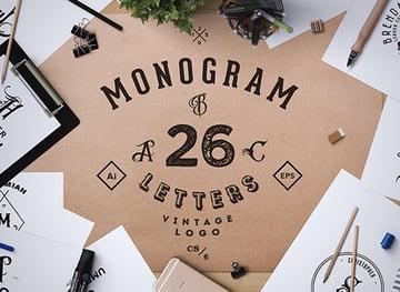 Monogram. ABC Vintage Logos