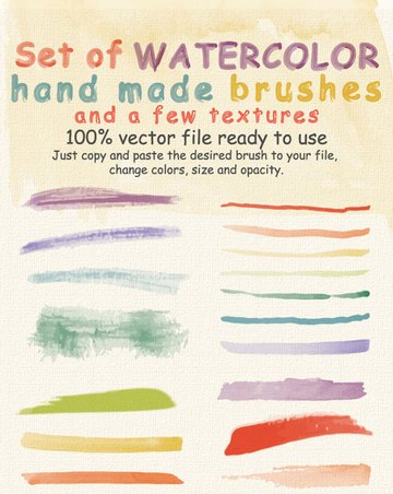 Watercolor Brushes and Textures