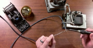 Soldering audio cables