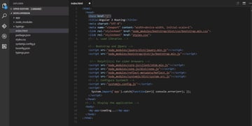 add a base href in the head of our indexhtml file
