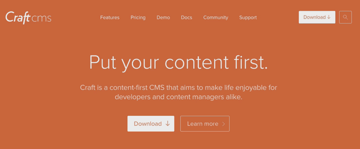 Screenshot of Craft CMS site