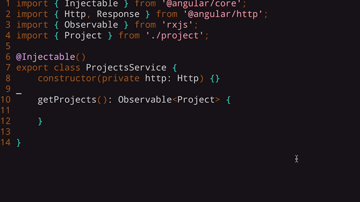 Code to import Observable