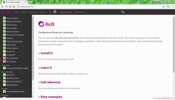 RxJS library website