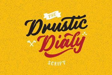 Drustic Dialy Script Cursive Font Style