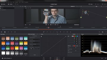 Color matching in DaVinci Resolve