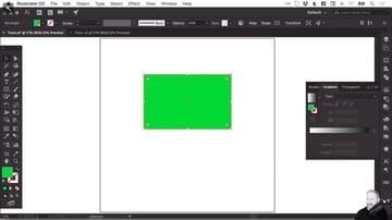 Gradient panel in Adobe Illustrator