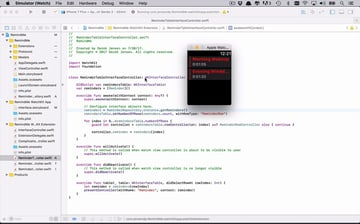 WatchOS app being coded
