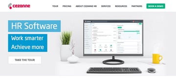 Cezanne HR Software website