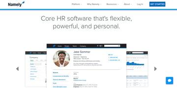 Namely business HR website