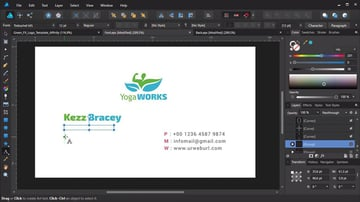 Business card creation in Affinity Designer
