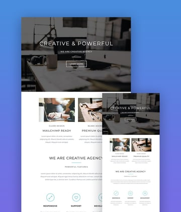 Blade responsive email template