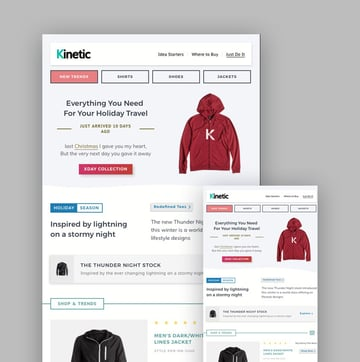 Kinetic email  template
